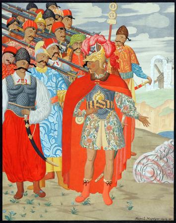 Георгій Нарбут, Еней та його військо , 1919, папір,гуаш