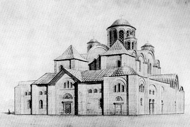 Десятинная церковь X в. Реконструкция Ю. С. Асеева.