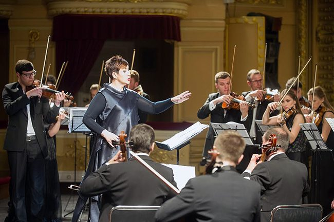 Kyiv, Ukraine: New Era Orchestra performs live at the National Opera House of Ukraine